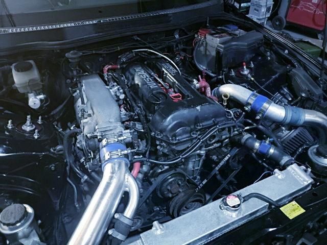 BLACK HEAD OF SR20DET TURBO ENGINE