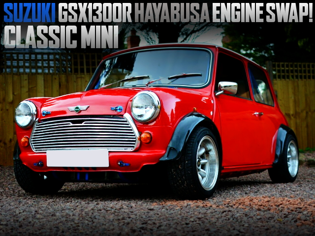 GSX1300R BIKE ENGINE SWAPPED CLASSIC MINI RED