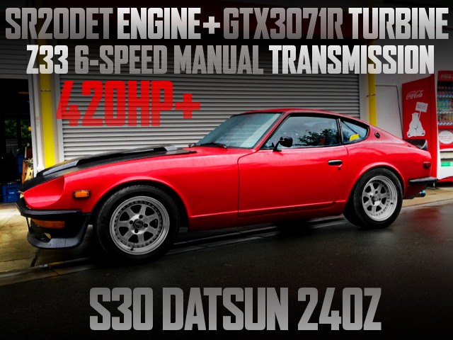SR20DET TURBO ENGINE AND 6MT SWAPPED S30Z RED