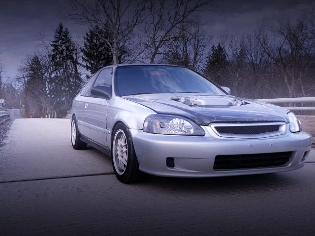 FRONT FACE EJ8 CIVIC COUPE EX FOR SILVER COLOR