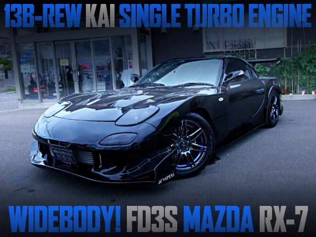 13B-REW SINGLE TURBO ENGINE OF FD3S MAZDA RX-7 WIDEBODY