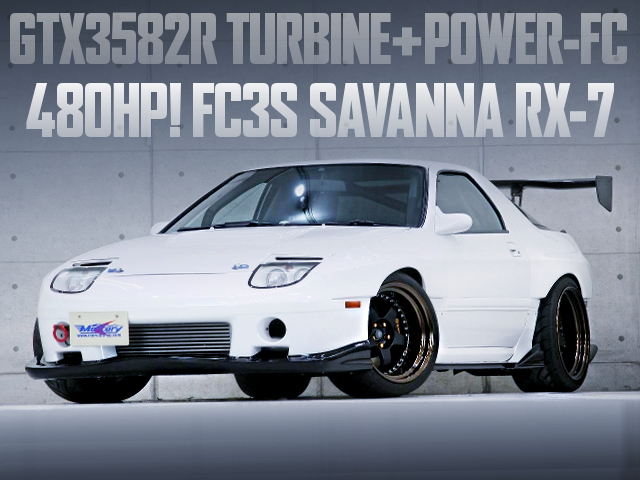 GTX3582R TURBOCHARGED FC3S RX-7 WIDEBODY