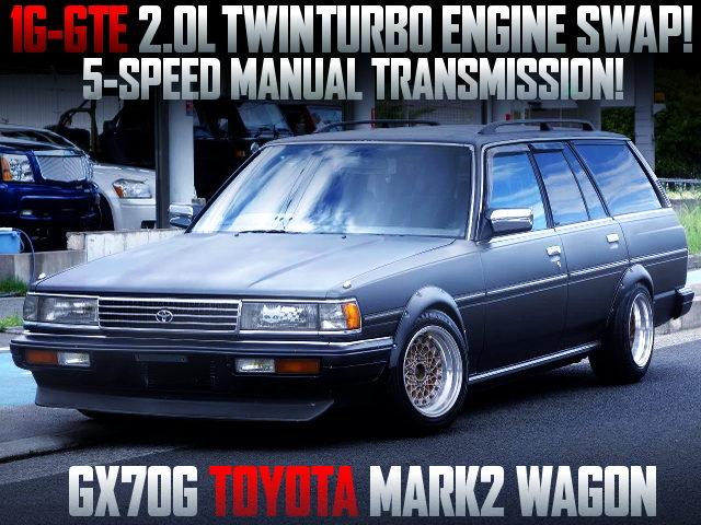 1G-GTE 2000cc TWINTURBO ENGINE SWAPPED GX70G MARK2 WAGON