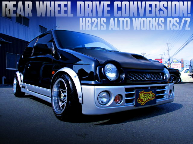 REAR WHEEL DRIVE CONVERSION TO THE HB21S ALTO WORKS RSZ