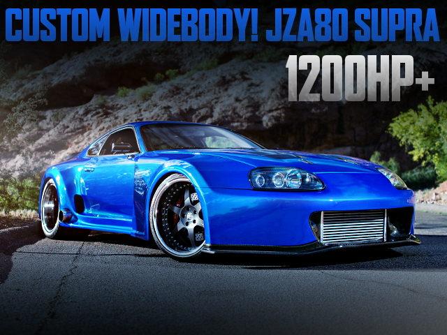 CUSTOM WIDEBODY AND 1200HP FOR JZA80 SUPRA BLUE