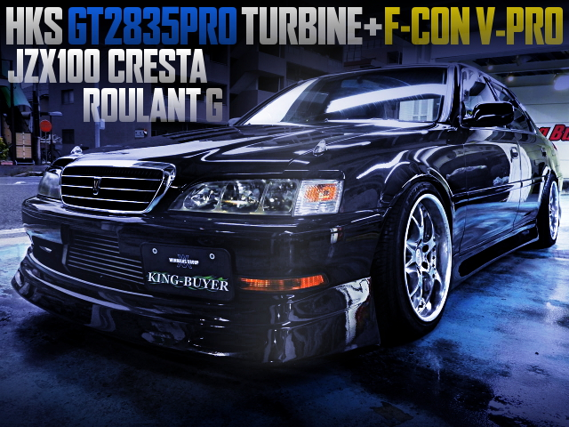 HKS GT2835PRO TURBO AND 5MT CONVERT WITH JZX100 CRESTA ROULANT G