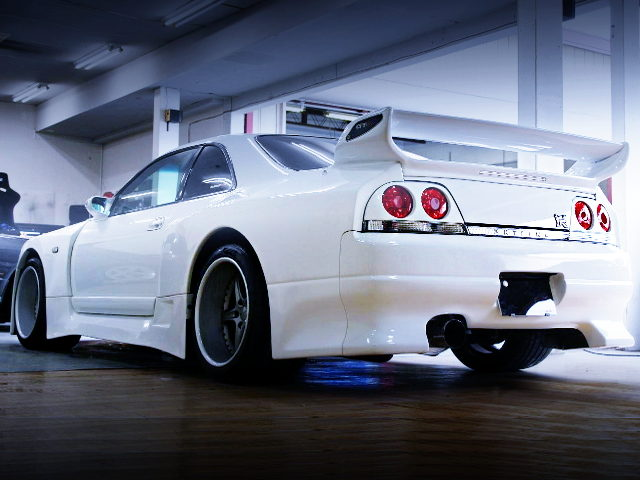 REAR EXTERIOR WISE SPORT JGTC LOOK WIDEBODY OF R33 GT-R