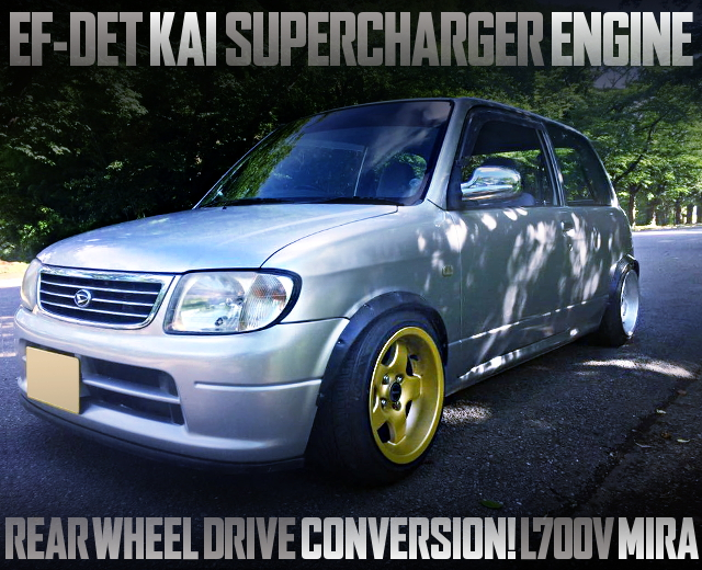 EF-DET KAI SUPERCHARGER ENGINE AND RWD CONVERT L700V MIRA