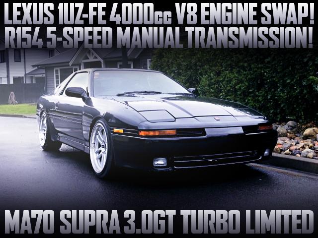 1UZFE 4000cc V8 ENGINE AND 5MT SWAPPED MA70 SUPRA MK3