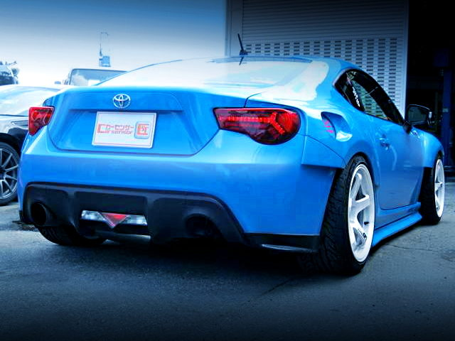 REAR EXTERIOR OF TOYOTA 86GT WIDEBODY