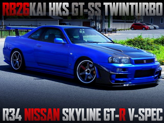 RB26 WITH GT-SS TWIN TURBO OF R34 GT-R V-SPEC