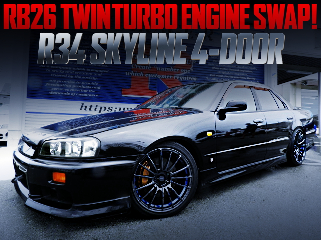RB26 TWINTURBO ENGINE SWAPPED R34 SKYLINE 4-DOOR