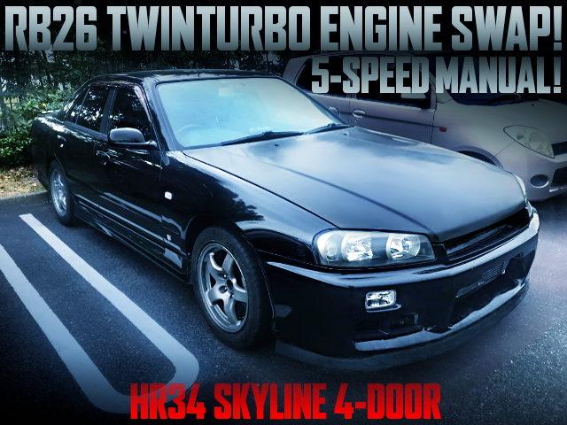 RB26 TWINTURBO ENGINE SWAPPED HR34 SKYLINE 4-DOOR SEDAN