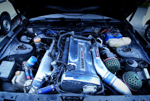 RB26 TWINTURBO ENGINE CHROME COVER