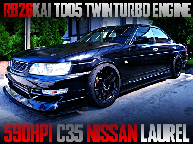 RB26 TD05 TWINTURBO ENGINE SWAPPED C35 LAUREL