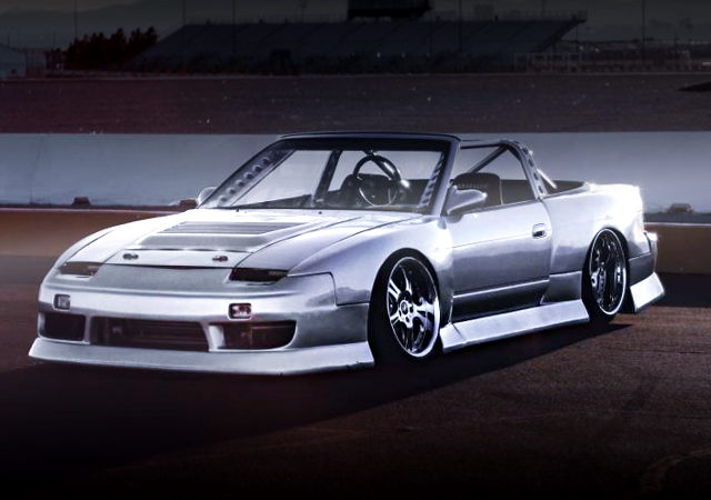 SILVER PAINT AND WIDEBODY OF 240SX CONVERTIBLE