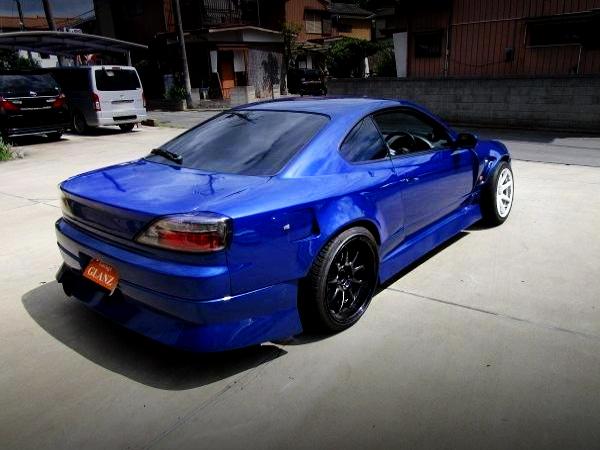 REAR EXTERIOR S15 SILVIA BLUE COLOR