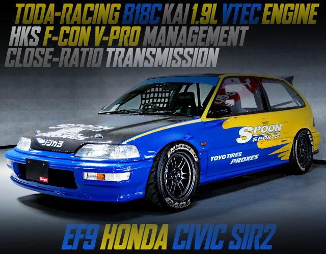 TODA RXCING B18C 1900cc ENGINE INTO EF9 CIVIC SIR2 FOR SPOON RACING COLOR