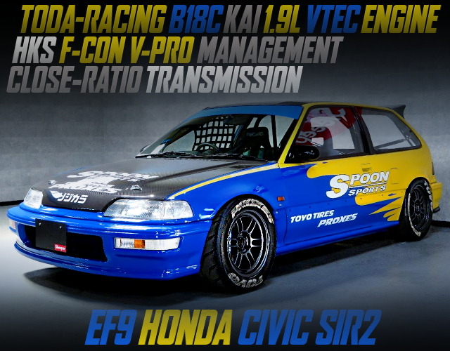 TODA RXCING B18C 1900cc ENGINE INTO EF9 CIVIC SIR2 FOR SPOON RACING COLOR