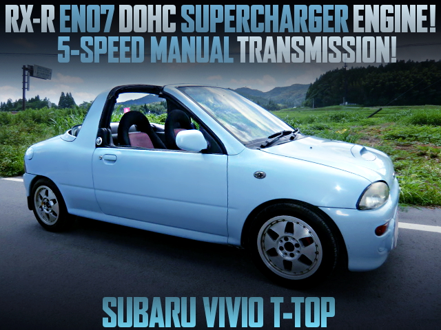 SUPERCHARGED EN07 DOHC ENGINE SWAPPED KY3 VIVIO T-TOP
