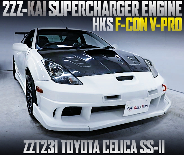 SUPERCHARGED 2ZZ ENGINE OF ZZT231 CELICA SS2