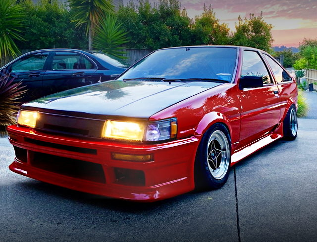 FRONT EXTERIOR AE85 COROLLA LEVIN FOR RED PAINT