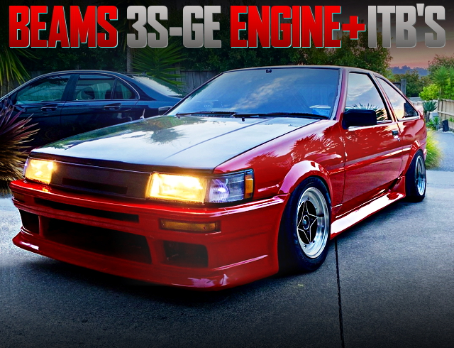 3S-GE 2000cc ENGINE AND ITBs WITH 4th Gen AE85 COROLLA LEVIN