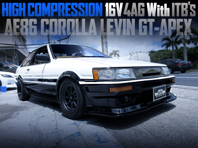 HIGH COMP 16V 4AG WITH ITBS OF AE86 LEVIN GT APEX PANDA