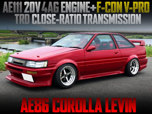 AE111 20V 4AG SWAPPED AE86 COROLLA LEVIN RED