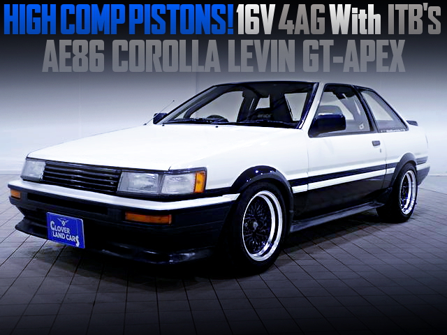 HIGH-COMP PISTONS INTO 16V 4AG With ITBs OF AE86 LEVIN GT-APEX