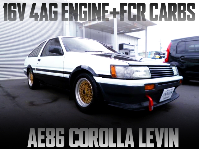 16V 4AG with FCR CARBS of AE86 LEVIN PANDA COLOR