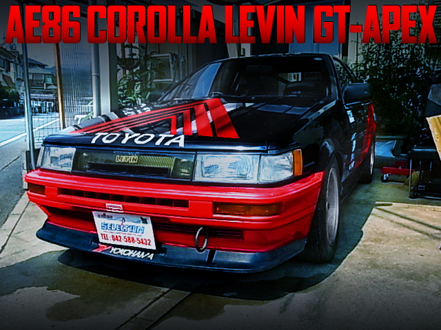 ADVAN RACING PAINT OF AE86 COROLLA LEVIN GT APEX