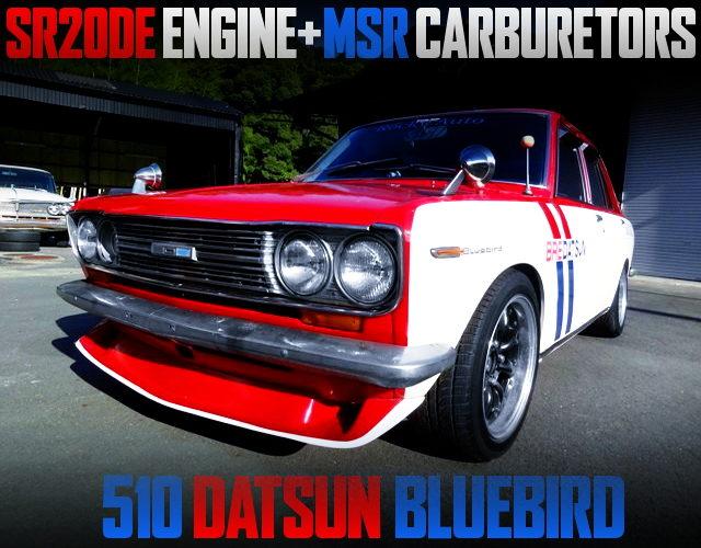 SR20DE CARBS ENGINE SWAPPED 510 BLUEBIRD FOR BRE COLOR PAINT