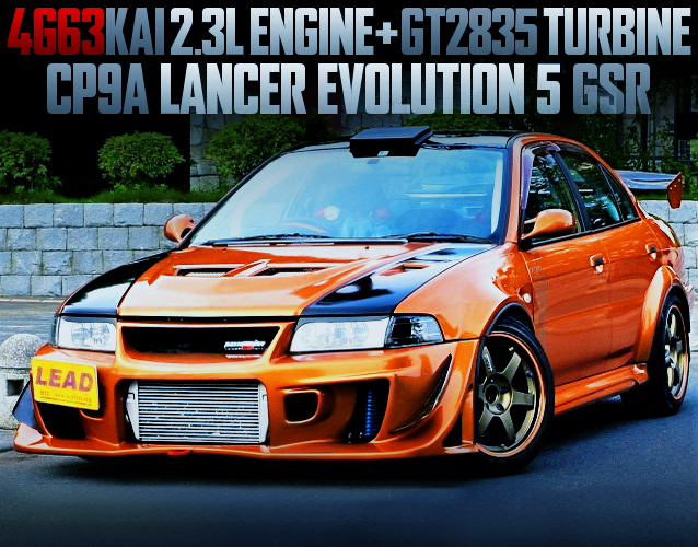 4G63 2300cc GT2835 TURBO ENGINE OF CP9A EVO 5 GSR