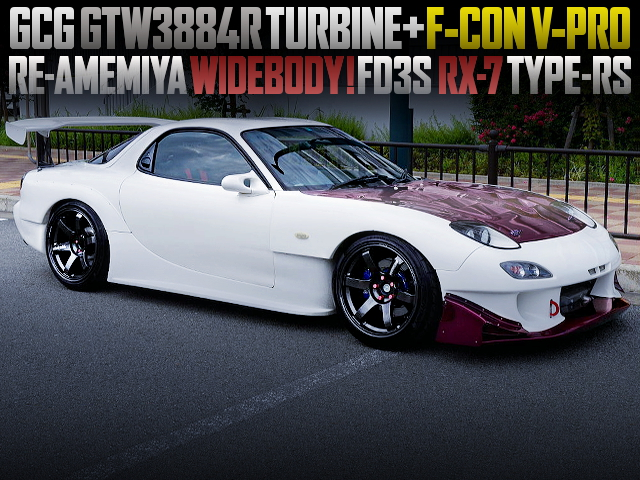 GCG GTW3884R TURBOCHARGED FD3S RX7 WITH RE-AMEMIYA WIDEBODY