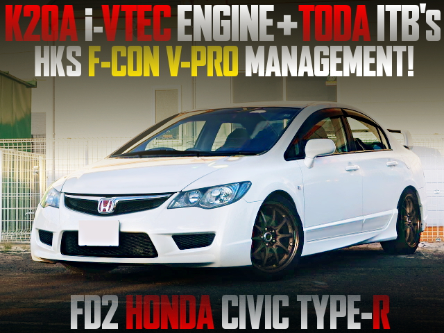 TODA ITBs ON K20A iVTEC ENGINE OF FD2 CIVIC TYPE-R