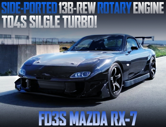 SIDEPORT AND TO4S TURBO WITH 13B-REW INTO FD3S RX7
