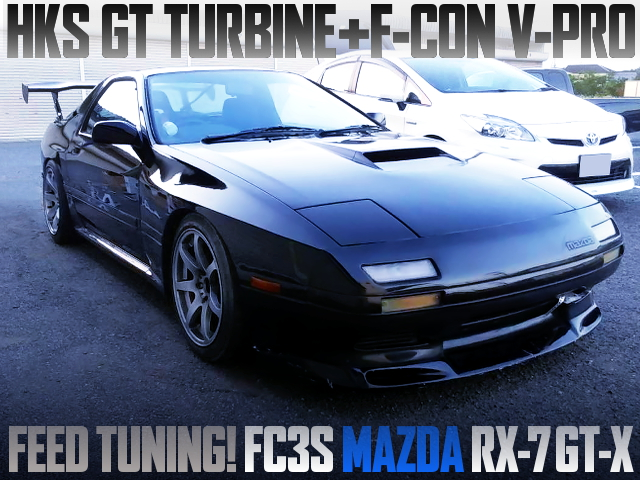 HKS GT TURBINE AND POWER-FC OF FC3S MAZDA RX7 FOR FEED TUNING