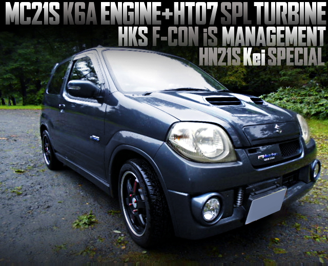 K6A ENGINE With HT07 TURBO OF HN21S Kei SPECIAL 3-DOOR