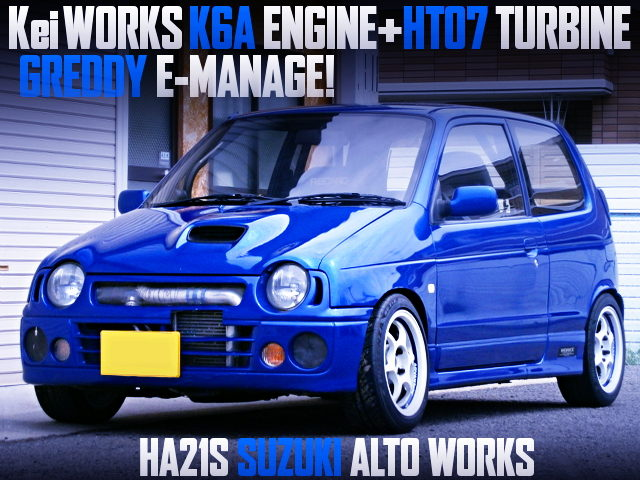 KeiWorks K6A ENGINE AND HT07 TURBO WITH HA21S SUZUKI ALTO WORKS