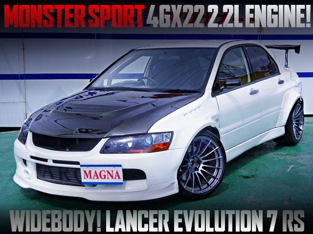 MONSTER SPORT 4GX22 ENGINE INTO LANCER EVOLUTION 7