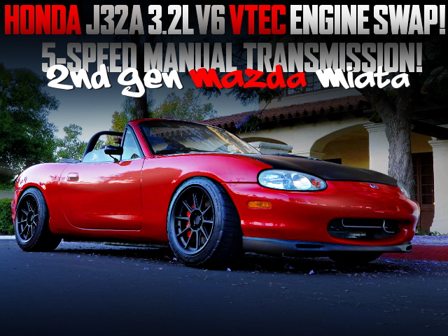 J32A V6 VTEC ENGINE SWAPPED NB MAZDA MIATA