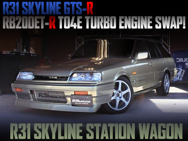 R31 GTS-R RB20DET-R TURBO ENGINE SWAPPED R31 SKYLINE WAGON
