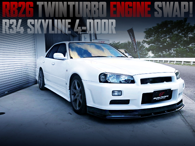 RB26 SWAPPED R34 SKYLINE 4-DOOR SEDAN