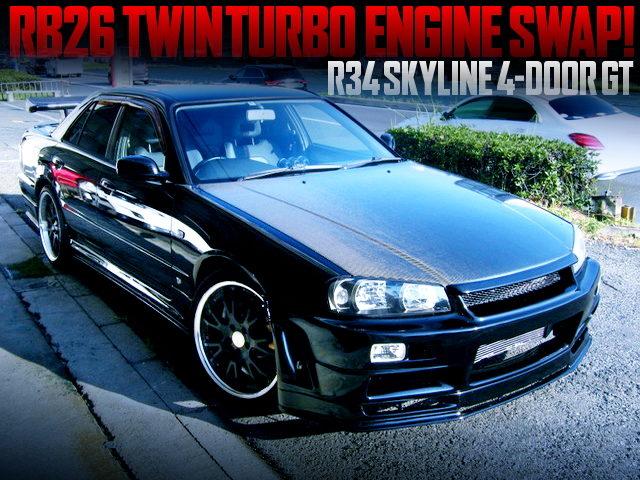 RB26 SWAPPED HR34 SKYLINE 4-DOOR SEDAN GT