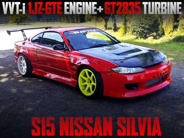 VVT-I 1JZ TURBO ENGINE SWAPPED S15 SILVIA WIDEBODY RED