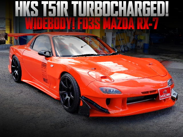 HKS T51R TURBOCHARGED OF FD3S RX-7 WIDEBODY