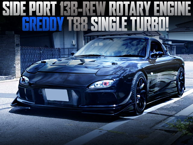 13B SIDE-PORT T88 TURBO ENGINE INTO FD3S RX7