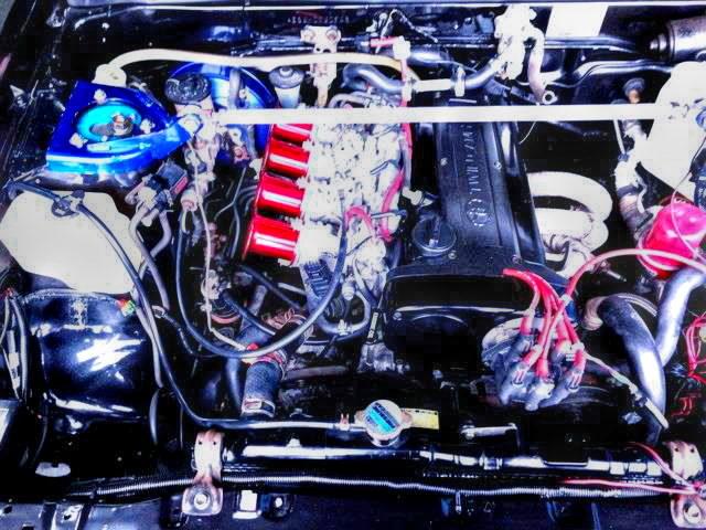AE111 5VALVE 4AG INSTALLED OF AE86 LEVIN ENGINE ROOM