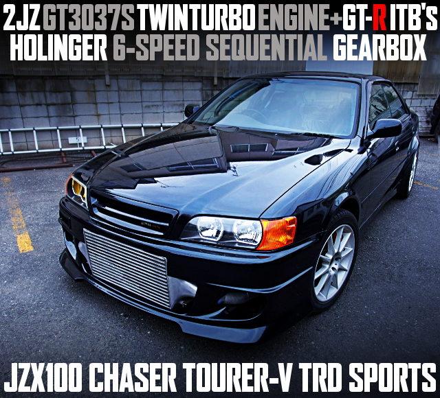 2JZ GT3037S TWINTURBO INTO JZX100 CHASER TOURER-V TRD SPORTS